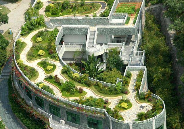 夏天,屋顶绿化就等于一个绿色空调